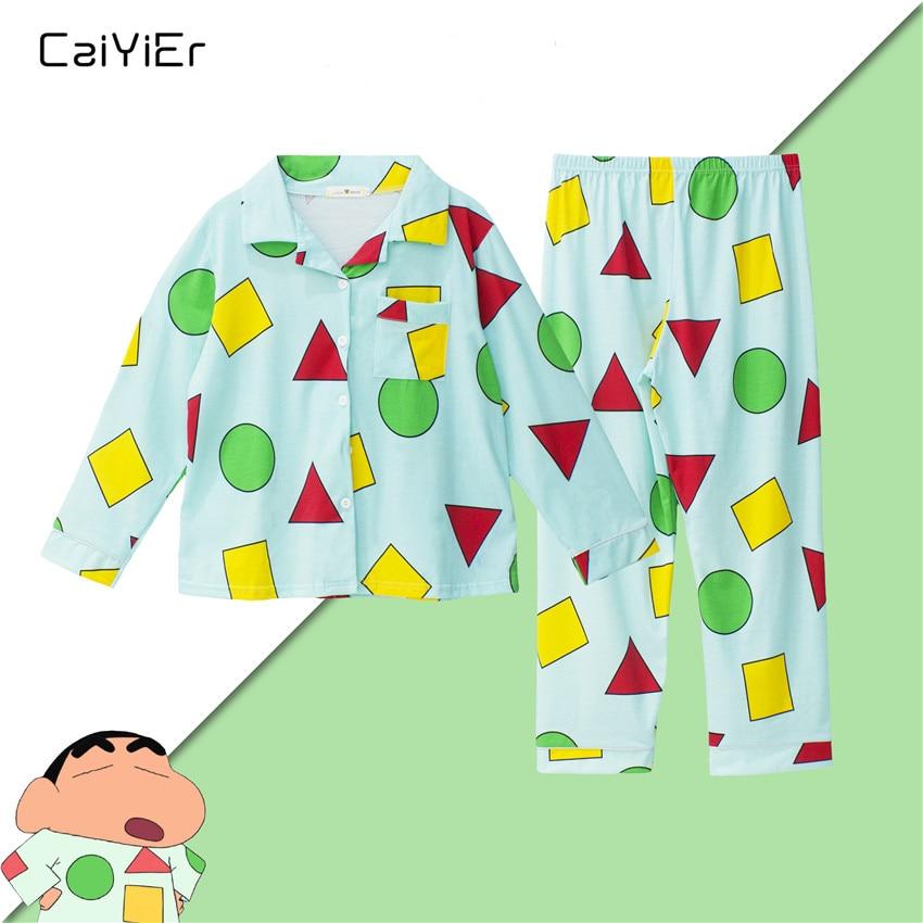 Caiyier Autumn Winter Long Sleeve   Pajama     Set   Lovely Triangle Print Nightgown With Eye Mask 3pcs Sleepwear Cute Girl Korea Homewe