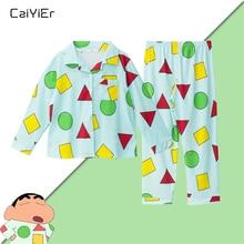 Caiyier Thu Đông Dài Tay Pyjama Set Tam Giác In Váy Ngủ Với Bộ 3 Mặt Nạ Đồ Ngủ Nữ Dễ Thương Hàn Quốc homewe