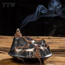 Buddhist Censer Burner Ceramics Backflow Incense Burner Incense Cone Sticks Holder Buddhist Crafts Use In Home Office Teahouse creative fly dragon incense burner bunker smoke waterfall incense burner incense cone sticks holder use in home office teahouse