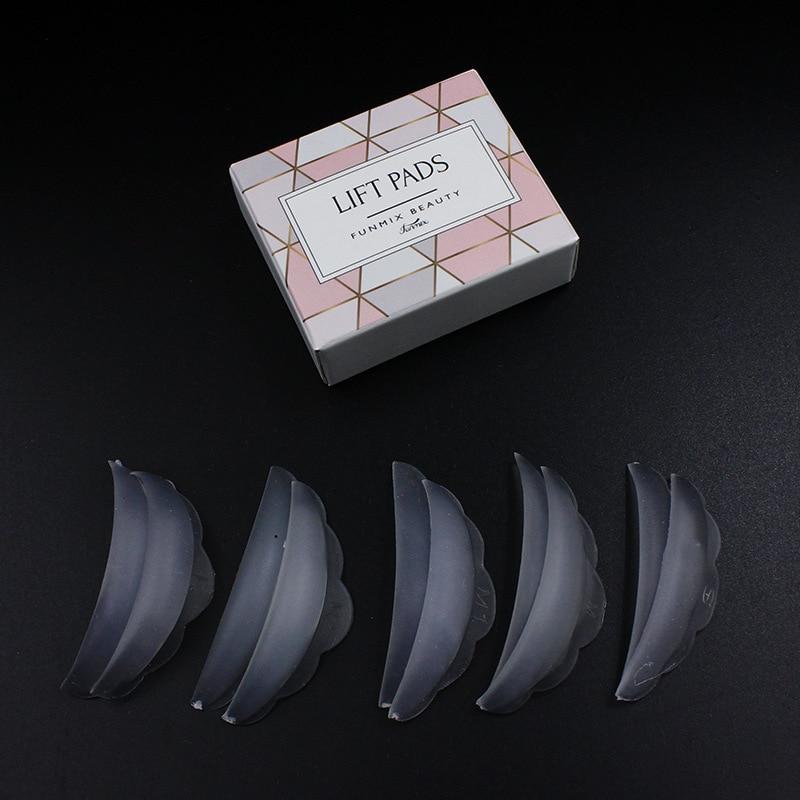 5Pairs Silicone Eyelash Perm Pad Recycle Black Lashes Rods Shield Lifting 3D Eyelash Curler Makeup Accessories Applicator Tools