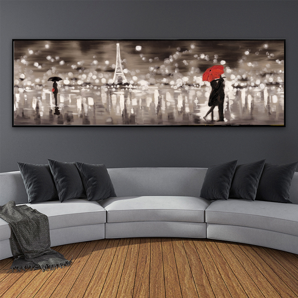 >Abstract French <font><b>Style</b></font> Landscape Canvas Painting Wall Painting Print Poster Wall Art Bedroom Living Room <font><b>Modern</b></font> <font><b>Home</b></font> Decoration