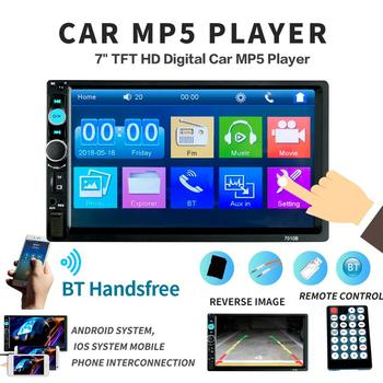 2din Car Radio Multimedia Stereo FM USB AUX Bluetooth Autoradio 7010B MP4 MP5 Player Mirror Link Support Rear View Camera image
