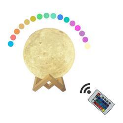 Светодиодный светильник с 3D-принтом Луны, перезаряжаемый креативный Настольный светильник, ночник, домашний декор