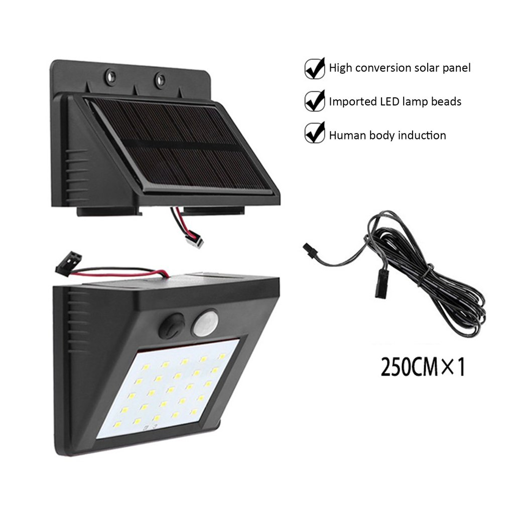 <font><b>30</b></font> <font><b>LED</b></font> <font><b>Solar</b></font> Light Human Body Induction Wall Light Motion Sensor Street Lamp Induction Light image