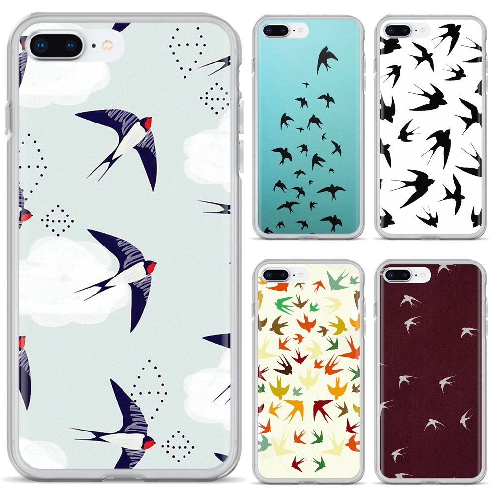 For Huawei P7 P8 P9 P10 P20 P30 P40 Lite Plus Pro 2015 2016 2017 Mini Bling Silicone Phone Case Swallow Pattern Animal Collage