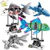HUIQIBAO 342 قطعة محاكاة الأسماك الحيوانية لتقوم بها بنفسك نموذج اللبنات مجموعات الأفكار التقنية مدينة الطوب ألعاب تعليمية للأطفال الصبي