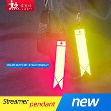 Nova meilite 500 luzes de vela streamer reflexivo chaveiros proteção de segurança saco pingente chave ings para uso de segurança tráfego