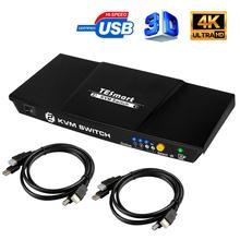 TESmart New High Quality 2 Port USB KVM HDMI Switch with Extra USB 2.0 Port Support 4K*2K (3840x2160)