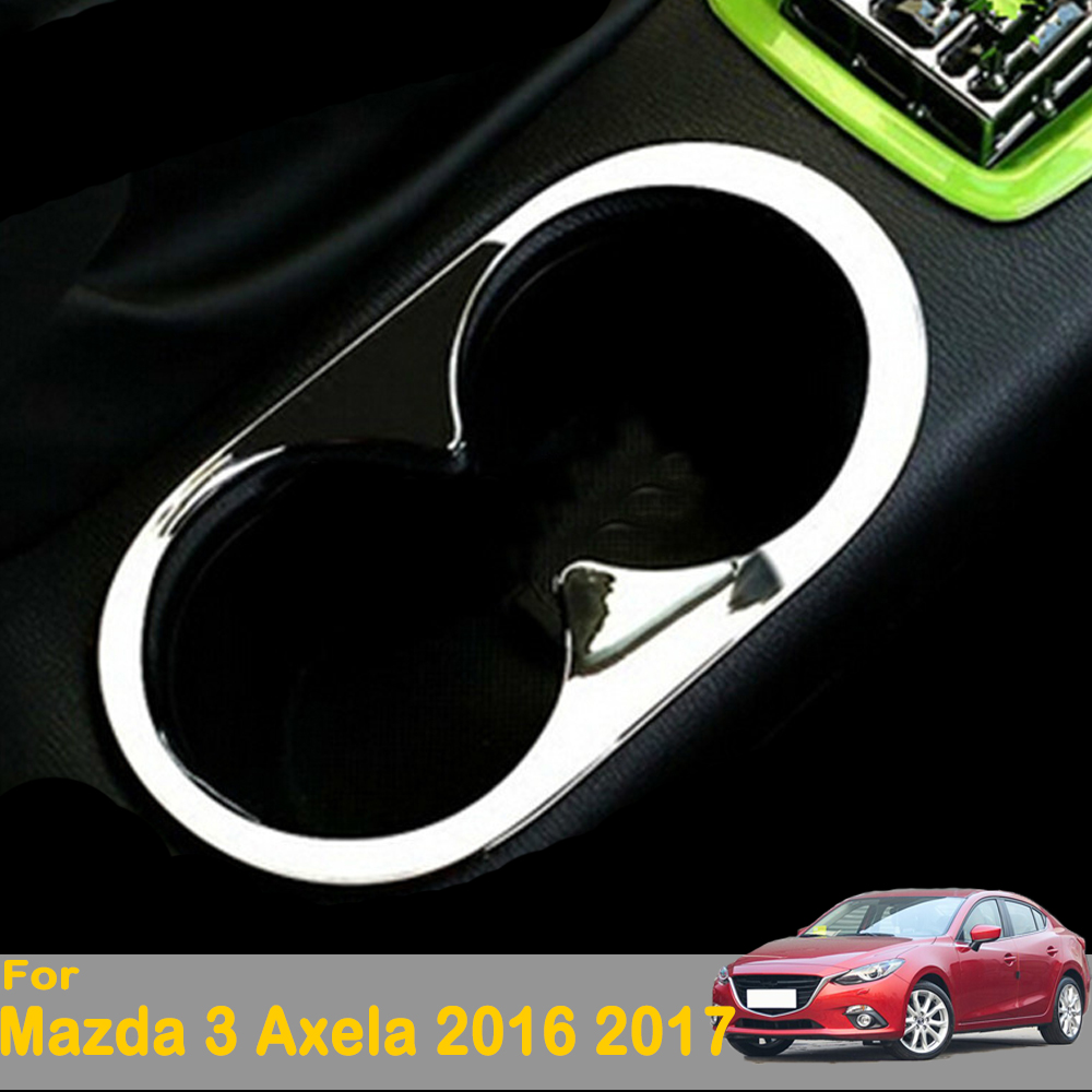 Fits Mazda 3 Axela 2014-2016 Center Console Cup Holder Cover Trim Garnish ABS