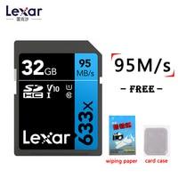 Lexar-tarjeta SD 633x de 95 MB/s, tarjeta flash original de 32/64/128/256/512GB, SDHC/SDXC, U1U3, Clase 10, para tarjeta de vídeo DSLR HD