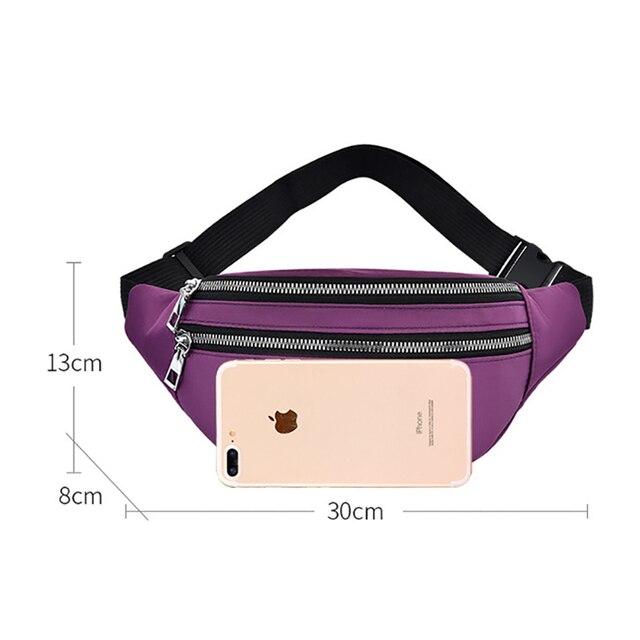 Waist Bag Women Fanny Pack Oxford Female Hip Bum Bag Men Banana Bag Women`s Belt Pocket Ladies Belly Money Pouch Fashion Purse 2
