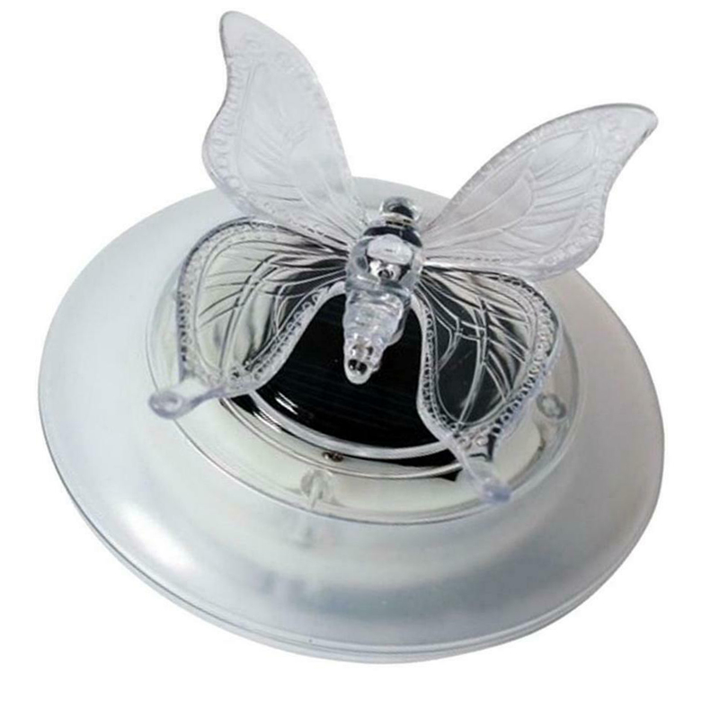 Solar LED Float Lamp RGB Color Change Butterfly Dragonfly Outdoor Pond Water Light _WK
