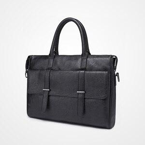 Image 2 - KUDIAN BEAR maletín sencillo de cuero para hombre, famosa marca, negocios, portátil, de hombro, BIG001, PM49