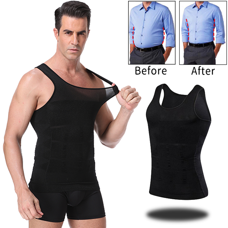Men Slimming Body Shaper Abdomen Belly Control Shapewear Vest Modeling Underwear Waist Trainer Cincher Corrective Posture Corset