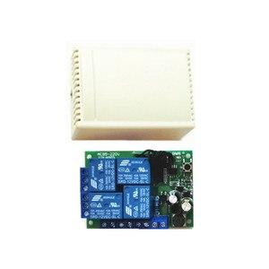 Image 3 - 433MHZ.EV1527 di apprendimento a distanza di controllo. AC85V 250V 220V 4 canali ricevitore interruttore. Utilizzato per porte da garage. Luce elettrica