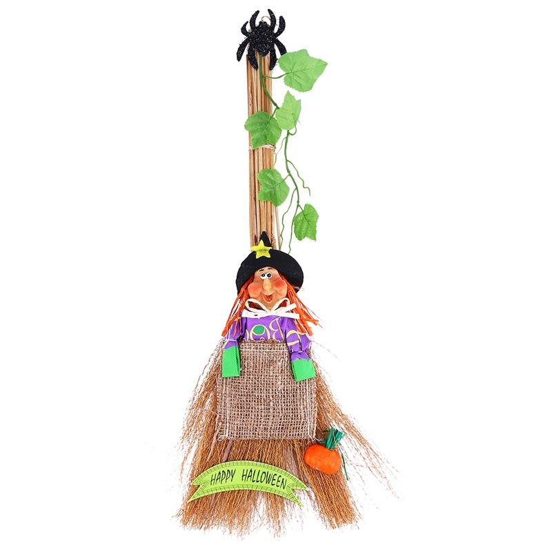 Halloween Broom Woman Witch Spider Halloween Party Decorative Broom Costume Ball Cosplay Prop