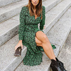 Chiffon Dress Long S...