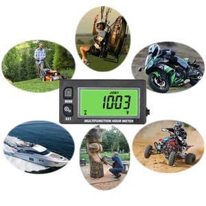 Image 5 - الاستقرائي درجة الحرارة متر ميزان الحرارة مقياس سرعة الدوران ماكس RPM استدعاء ساعة متر ل الذهاب عربات دراجة نارية ATV البحرية RL HM028A