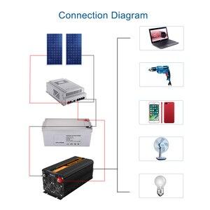 Image 5 - EDECOA sinusoidale pura potenza inverter onda DC 12V a AC 220V 1500W di picco 3000W con 5V 2.1A USB display LCD del telecomando