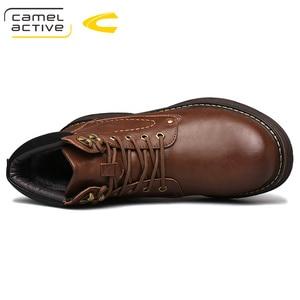 Image 4 - Deve aktif yeni sıcak marka erkek çizmeler hakiki deri kış sonbahar ayakkabı motosiklet Mens yarım çizmeler çift Oxfords ayakkabı
