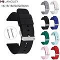 14/16/18/20/22/24 мм силиконовый ремешок для часов Quick Release браслет для Samsung Galaxy Watch 3 активных 2 для Huawei GT2 Смарт-часы