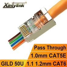 xintylink EZ rj45 connector cat6 jack rg rj 45 ethernet cable plug rg45 cat5e ftp 8P8C cat 6 network lan internet high quality
