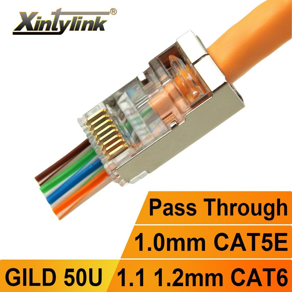 Коннектор xintylink rj45, разъем cat6 rg rj 45, ethernet-кабель, штекер rg45 cat5e ftp sftp 8P8C cat 6, сеть lan, Интернет, высокое качество