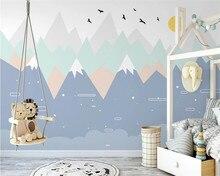 Shuhiko Custom hand-gemalt geometrische farbe berggipfel kinderzimmer schlafzimmer einfache hintergrund tapete papier peint