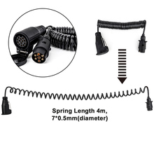 Разъем питания прицепа 12 в 7 до 13 контактный прицеп с пружинным кабелем адаптер соединитель проводки