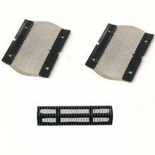 1x Shaver Blade+2 Foil Screen for Braun P70 P80 P90 550 555 575 M30 M60b 5604 5607 5608 5609 Razor Foil Mesh Net for panasonic razor blade head net wes9392c applies es6500 es6510 outer foil linner blade