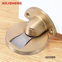 AOLISHENG Magnetic Door Stop Door Stop Hidden Door Holder Grab Floor Nailless Door Stop Furniture Hardware