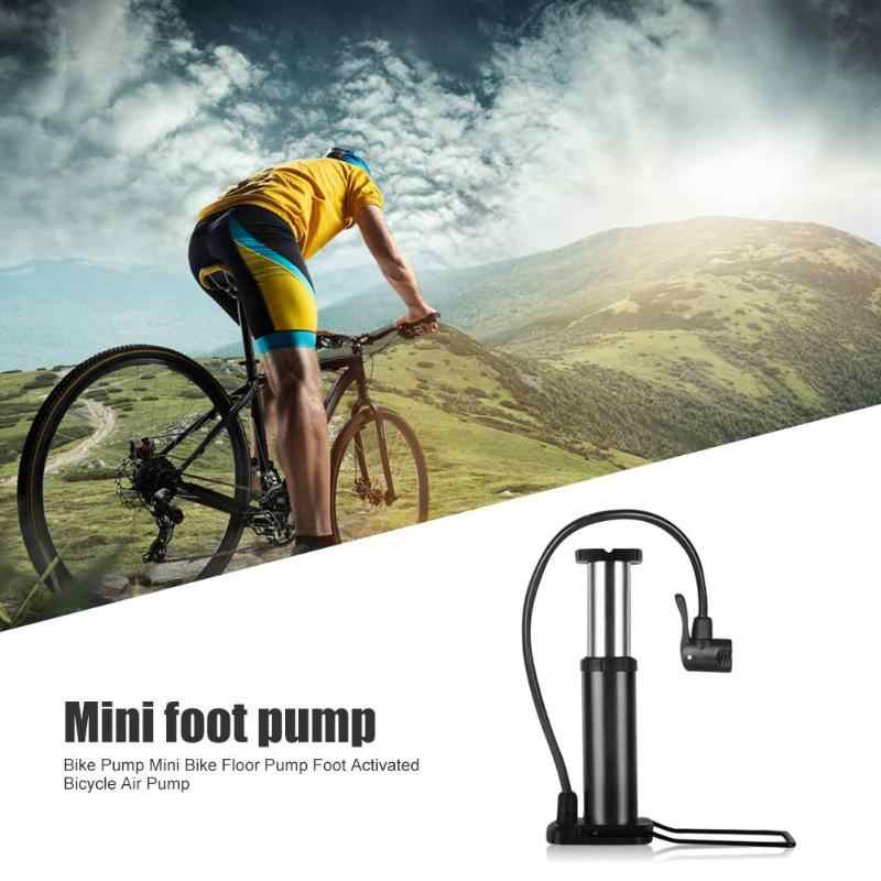 Portable cyclisme Mini Portable vélo plancher pompe pied activé en plein Air en alliage d'aluminium vélo pneu balle pompe gonfleur d'air