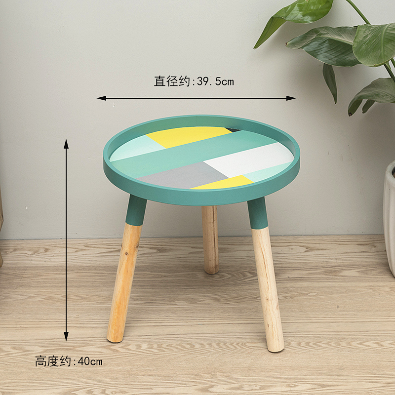 Луи Мода журнальные столы маленькие, круглые, мини прикроватные, простые спальни, прикроватные, твердой древесины угловой - Цвет: S1