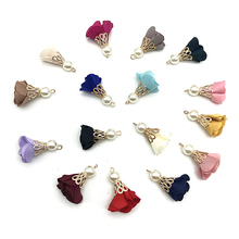 10pcs/Beads Buckle Torch Gold Bell Clasps Flower Tassel Charm Pendant for Keychain Garment Accessories