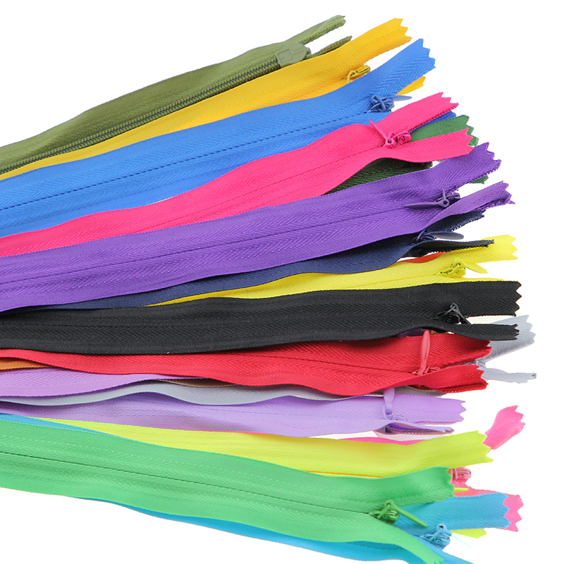 10pcs Nylon Invisible Soft tulle Coil Zippers Sewing 18inch(45cm)