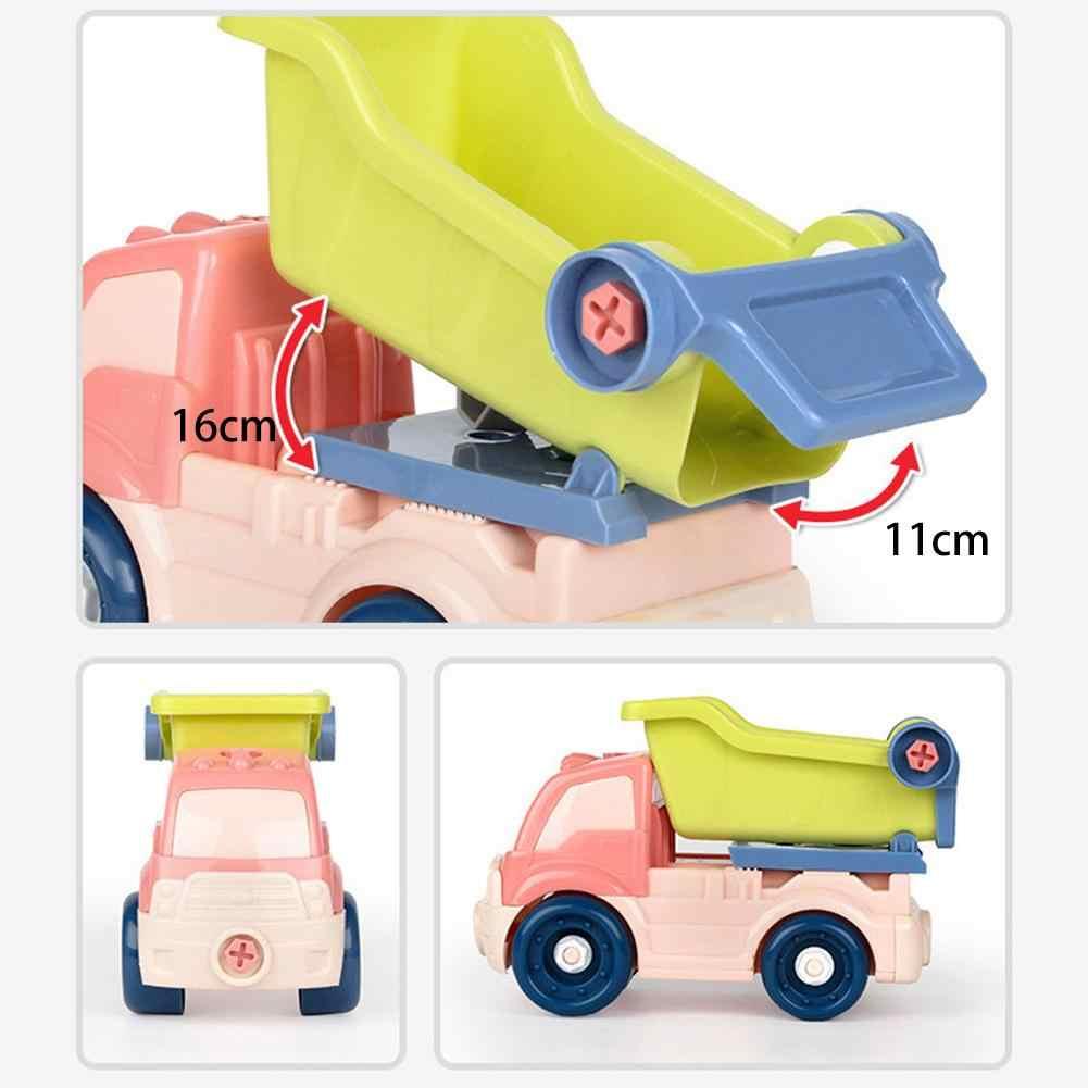 Anak Balita Mainan Mobil Mini Kartun Inersia Mobil Kendaraan Konstruksi Truk Mainan Gesekan Didukung Push Pergi Game Hadiah Mainan Bayi