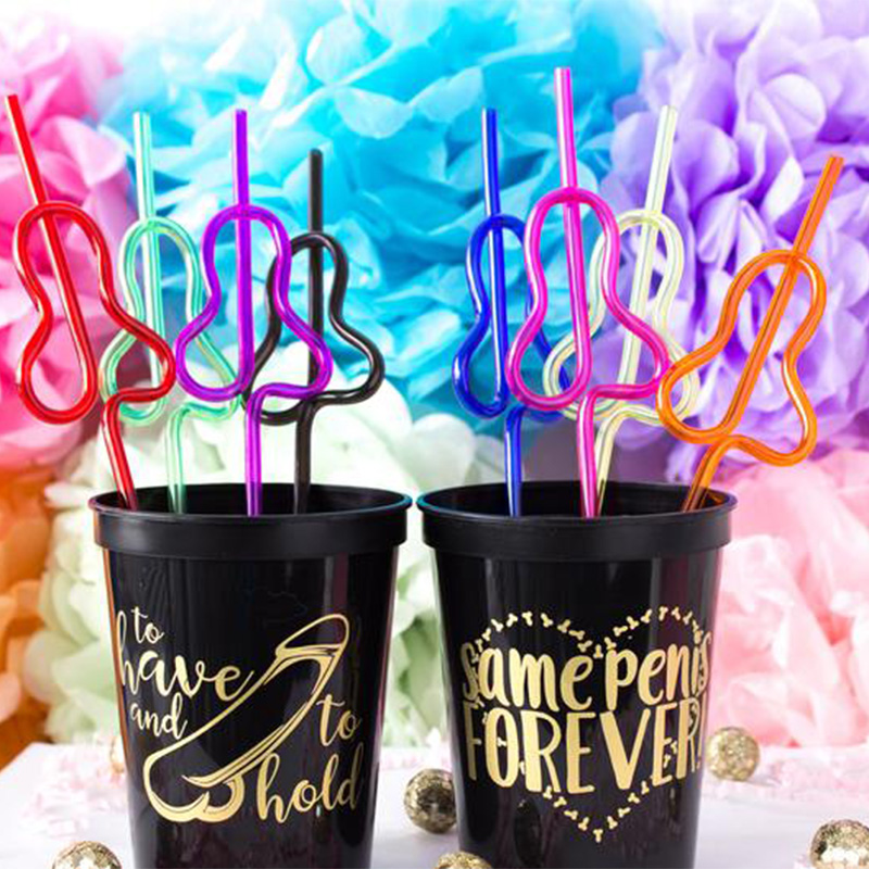 5pcs Funny Straw Bride To Be Wedding Cheeky Bridal Shower Bachelorette Hen Party Birthday Bridesmaid Anniversary Decoration Gift
