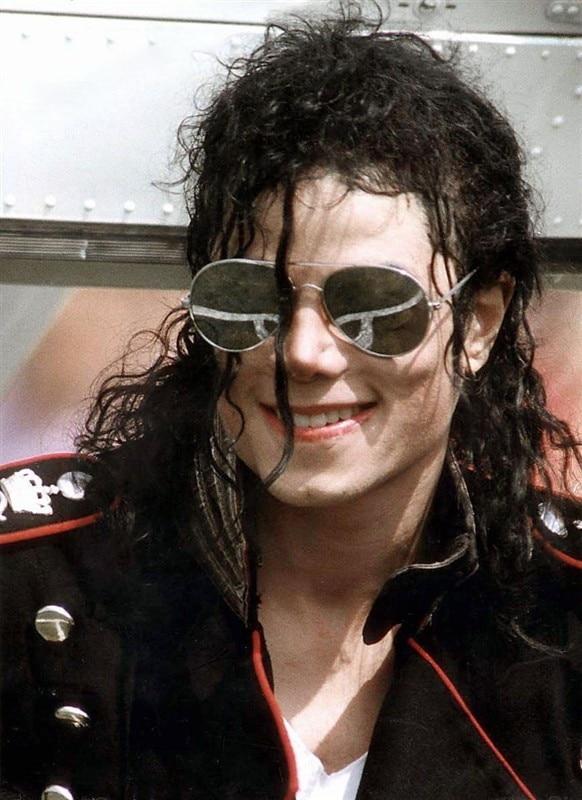 Classic Michael Jackson Cosplay Props Sliver Black Glasses Street Travel Outdoor Sunscreen Sunglasses