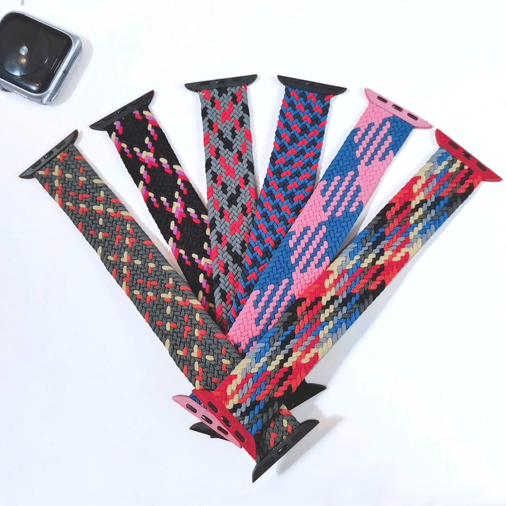 Braided Solo Loop For Apple watch band 44mm 40mm 38mm 42mm FABRIC Nylon Elastic belt bracelet iWatch series 3 4 5 se 6 strap 5