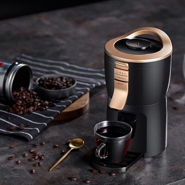 600 واط التلقائي بالكامل الأمريكية ماكينة القهوة صانع طاحونة المنزلية المحمولة الصغيرة طحن القهوة ، مسحوق الفول والشاي 2