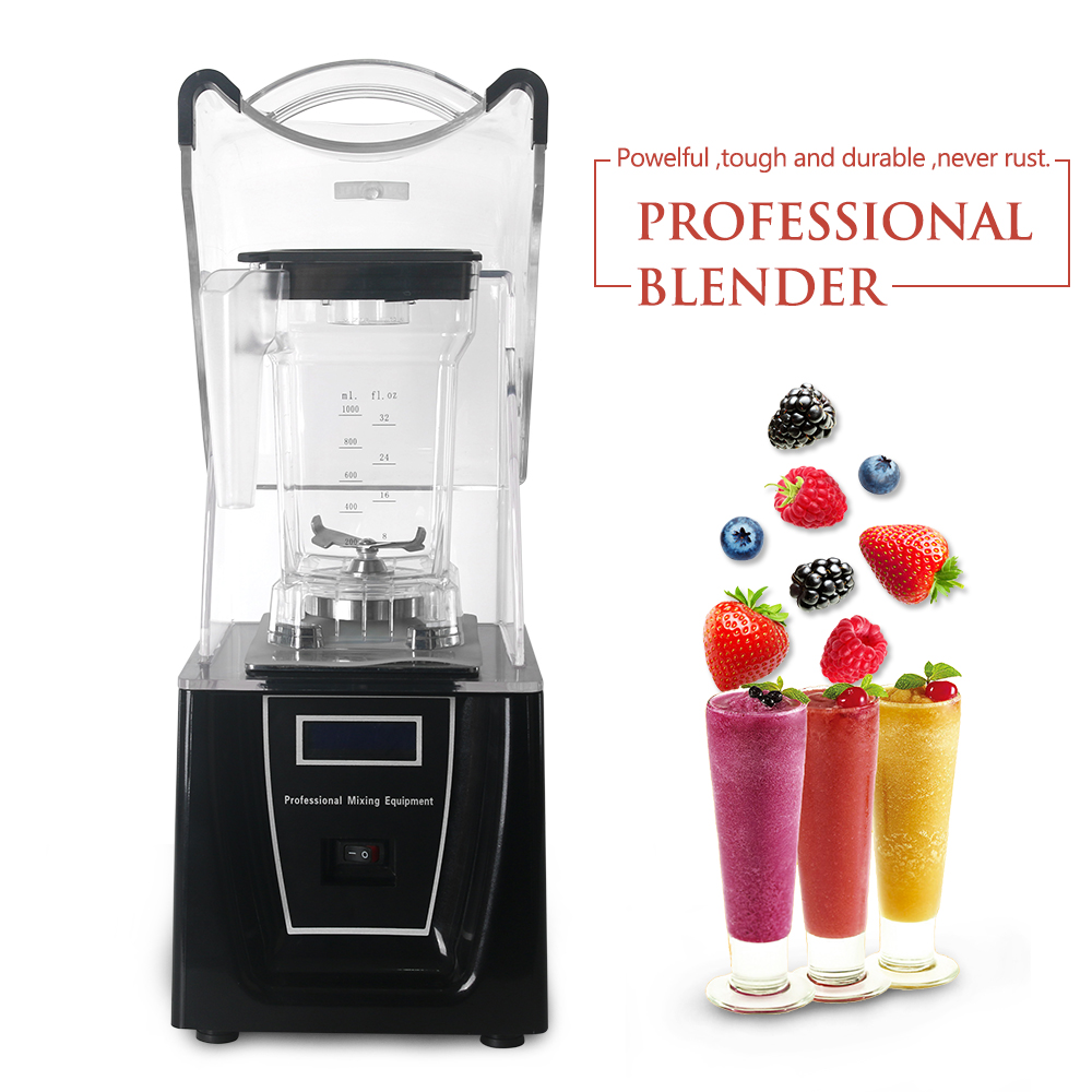 ITOP Commercial Blender Smoothie Maker 1500ml Food Mixers With 5 Functions Black/White Juicer 110V/220V/240V