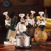 1Set/4PC Creative Chefs Club Model Ornaments Resin Crafts Cartoon Hotel Deskstop Home Decoration Accessories Birthday Gift Toy