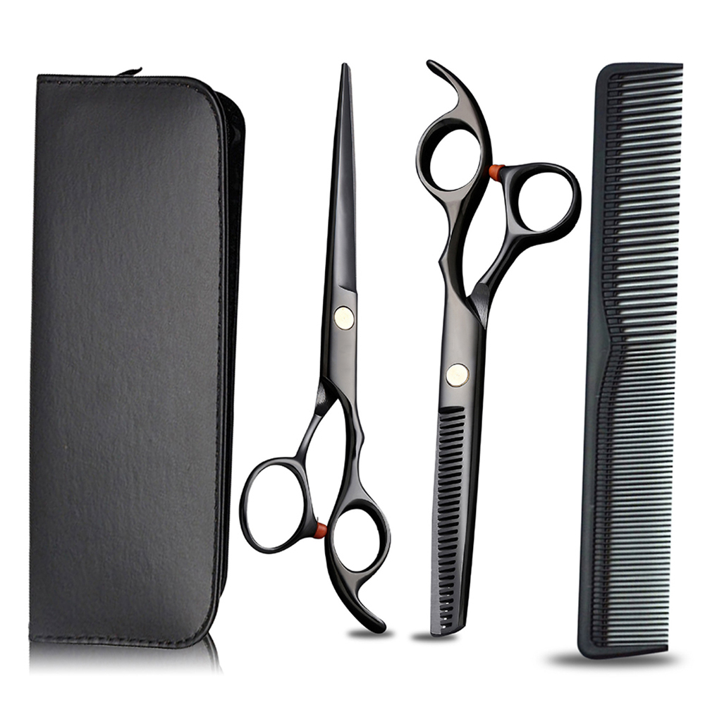 Cutting Thinning Styling Tool Hair Scissors Set Stainless Steel Salon Hairdressing Shears Flat Teeth Blades