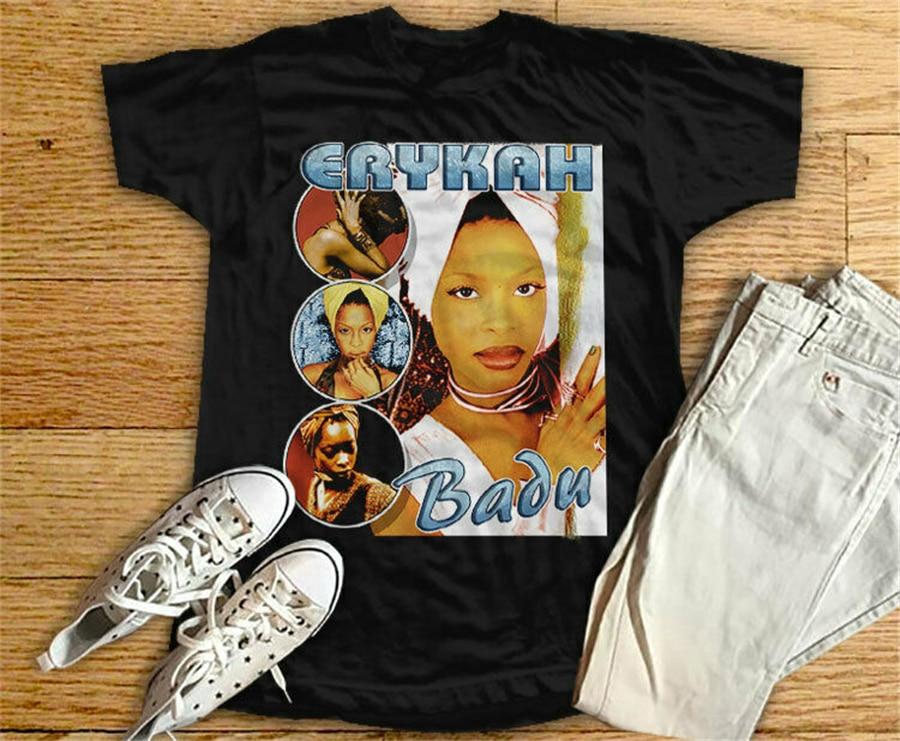 Retro Vintage 90's Erykah Badu Baduizm Tops Tee T Shirt T-Shirt Full-figured