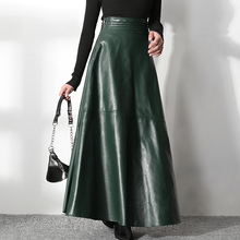2020 spring pu leather skirt Ladies Elegant High Waist Autumn Winter Female Pu L