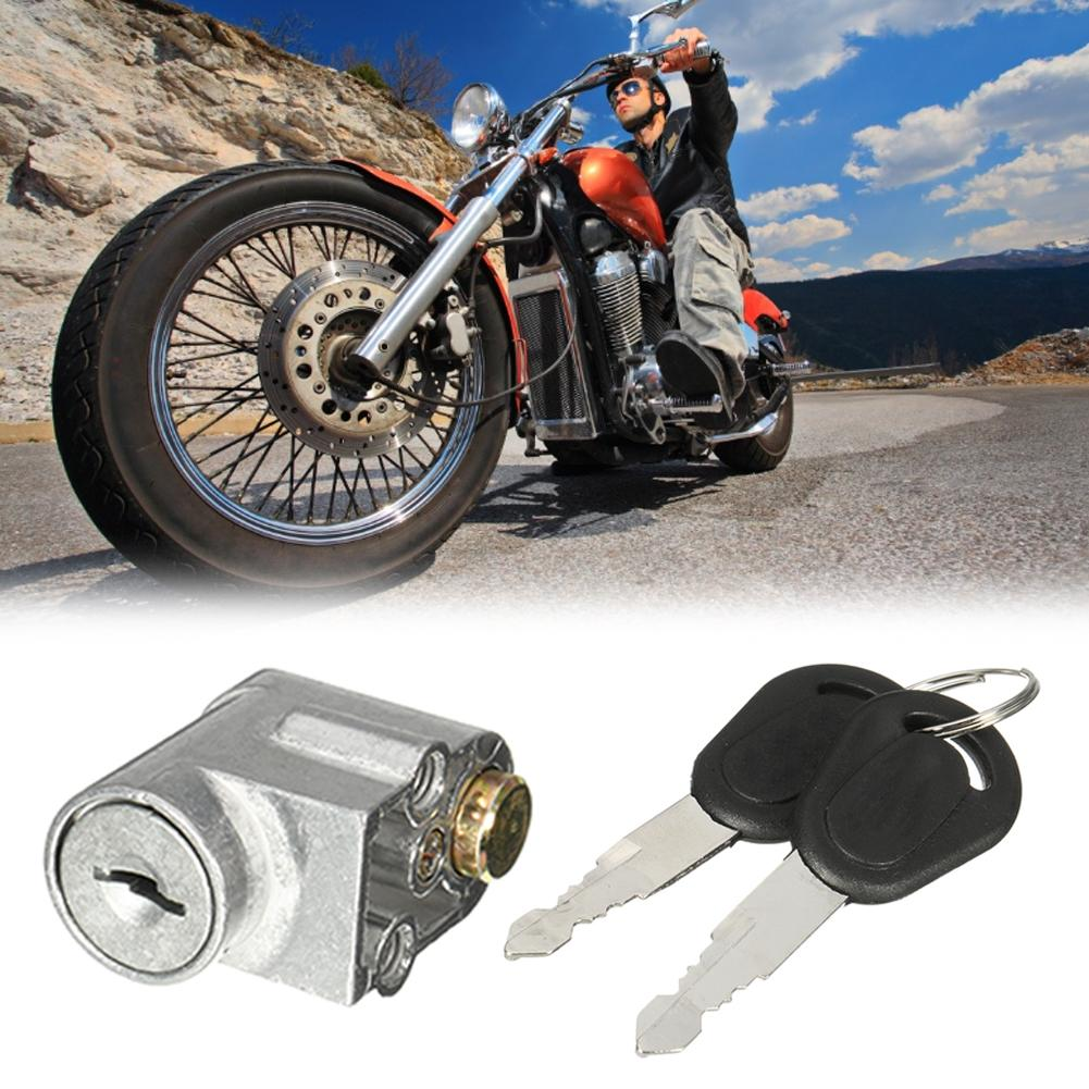Ignition Switch Battery Safety Pack Box Lock + 2 Key For Motorcycle Electric Bike Scooter E-bike