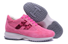 Hogan 2020 Women #8217 s Fashion Genuine Leather Outdoor Bling Heighten Shoes Walking Sneaker Women Casual Sports Vulcanized Shoes cheap Cow Leather Solid Adult Spring Autumn Med (3cm-5cm) Lace-Up Fits true to size take your normal size