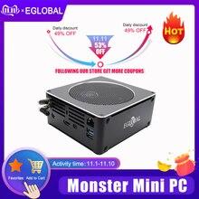 Eglobal מיני משחקי מחשב Intel i5 9300H i7 8850H 6 Core 12 אשכולות Nuc מחשב Win 10 פרו NVMe PCIe 2 * DDR4 AC WiFi HDMI Mini DP