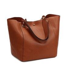 2018 Luxury brand Big Size Vintage PU Tote Handbag Women's Casual Large Capacity