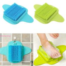 Plastic Bath Shower Foot Brush Scrubber Bath Shoe Feet Massage Slippers Brush Scrub Exfoliating Spa Shower Remove Dead Skin